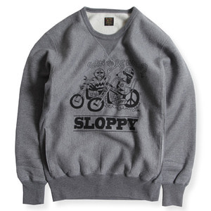 "HEAVY WEIGHT FORNT V SWEAT""SLOOPY"" (GRY)"