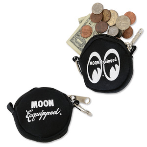 MOON Equipped Round Coin Case [ MQG093BK ]