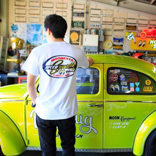 MOONEYES Speed Specialty T-Shirt [ TM252WH ]